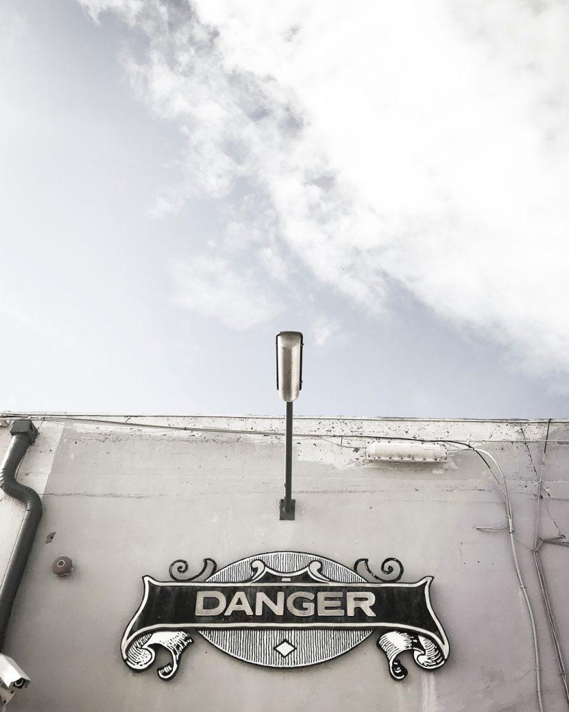 Danger Press Sign