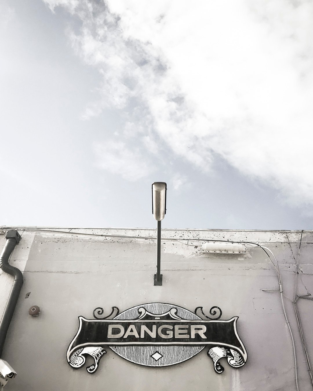Danger Press Sign