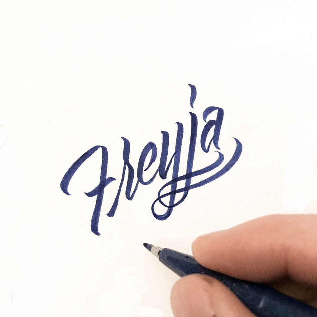 Freyja lettering