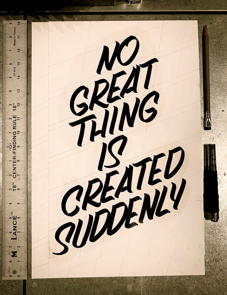 No great thing is created suddenly